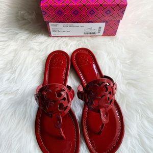 7775022c864b Tory Burch Shoes - Tory Burch Miller sandals patent dark redstone